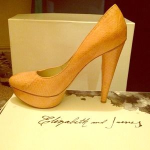 Nude Elizabeth and James pumps