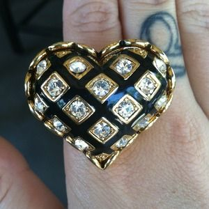 HOST PICK Betsey Johnson heart ring
