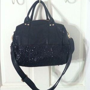 49 Off Deux Lux Handbags Deux Lux Black Sequin Duffle