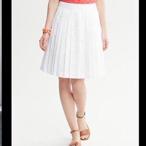 New York & Co. Dresses & Skirts - NWT New York & Co White Pleated Skirt