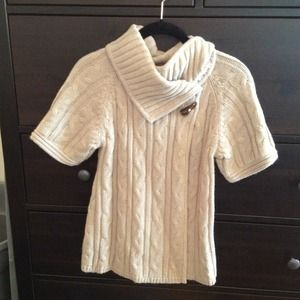 Short-sleeved tan sweater from The Limited!