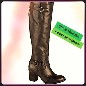Steve Madden Black Randommm Boots (comes with box)