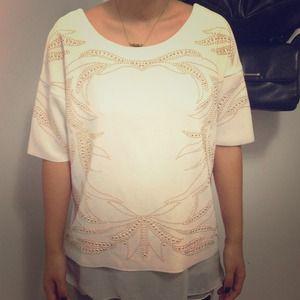 ZARA gold studded blouse!