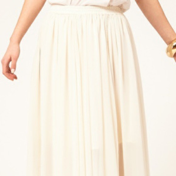 27% off ASOS Dresses & Skirts - ASOS cream maxi skirt with ...