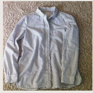 Women's striped Oxford shirt