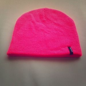 Spacecraft neon pink beanie