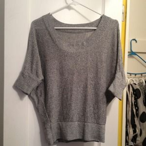 Super cute grey and white bat wing sweater