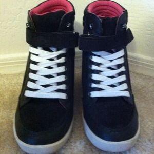 Shoes - Mad Love Funky Wedge Sneakers