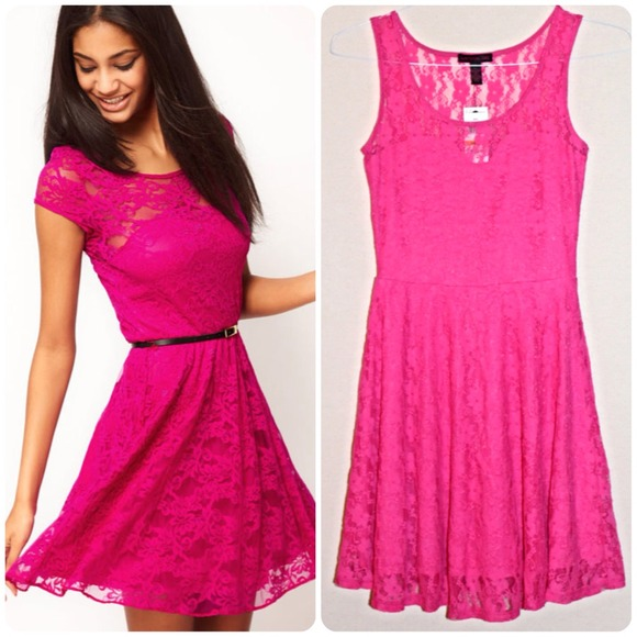 45% off Dresses & Skirts - 💗💗💗HOT PINK LACE from Michelle💕's ...