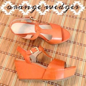 Beautiful orange wedges