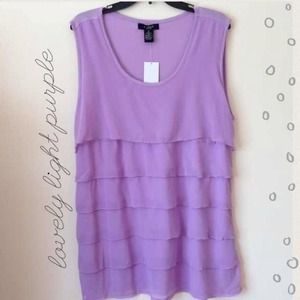 Light purple ruffled top