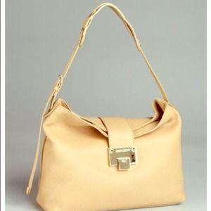 Authentic Jimmy choo nude handbag