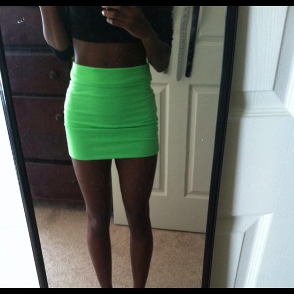 e393d8aa85 Wet Seal Skirts | Sold On Vinted Neon Green Bodycon Skirt | Poshmark