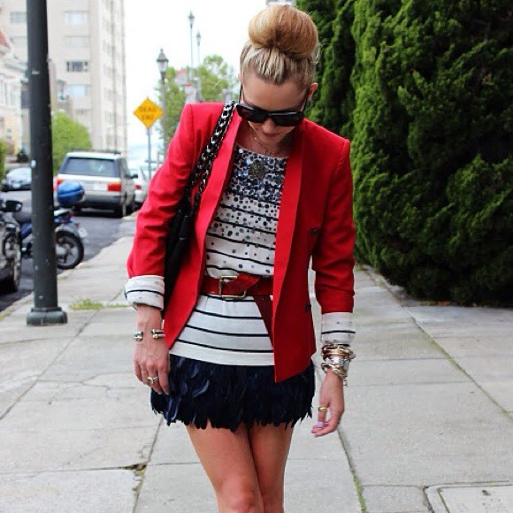 RED Blazer as seen on Atlantic Pacific