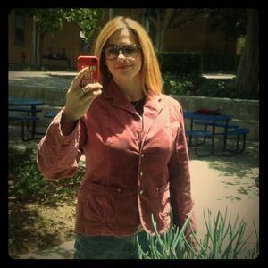 American Exchange Jackets & Blazers - Dusty rose pink cotton velvet blazer