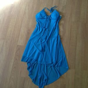 Dresses & Skirts - Turquoise, chiffon, junior's large, high-low dress