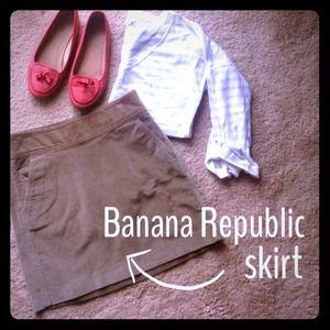 {Banana Republic} Corduroy Skirt