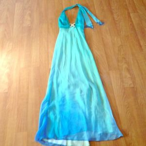 Dresses & Skirts - Ombré, formal A-line turquoise dress