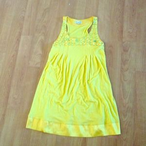 Dresses & Skirts - Bright yellow, short, embellished dress