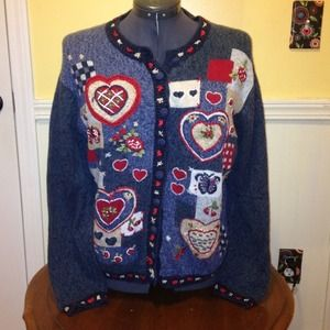 heirloom collectibles Sweaters - Woman's ugly sweater (hearts)