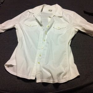 Converse One Star white dress shirt