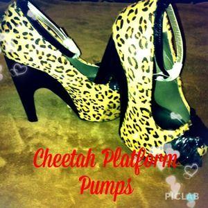 T.U.K. cheetah platform heels