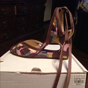 Marni cut out wedge