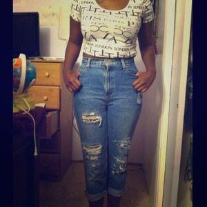 43% off Denim - High waist wide leg denim jeans from Appl3hd's ...
