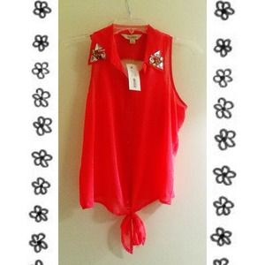 Decree Collared Studded Blouse