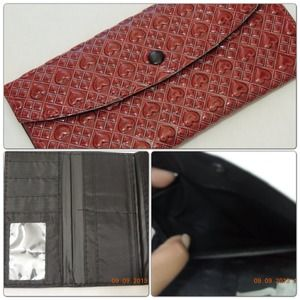 ✨WOMEN'S WALLETS-HEART & DIAMOND PATTERN (NWOT)