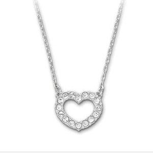 Swarovski Crystal Towards Heart Necklace