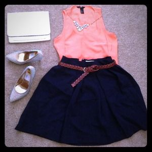 Forever 21 Dresses & Skirts - NEW❗Navy pleated skirt