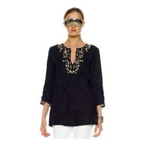Michael Kors Beaded Tunic Top