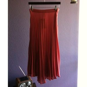 Pleated Mauve Skirt
