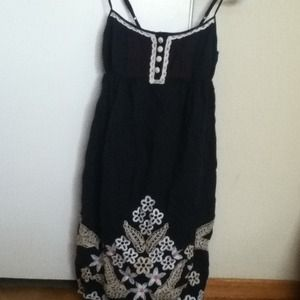 Charlotte Russe navy embroidered sundress