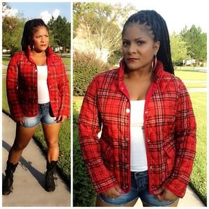 ⛔️SALE⛔️Plaid Grunge Jacket