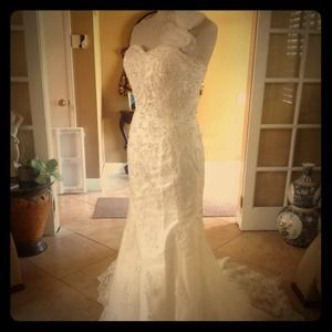Amazing!!!  Ivory Wedding Gown Sz 2