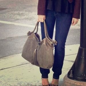 Foley + Corinna sage green 'Suede City' bag
