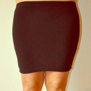 black tube mini skirt