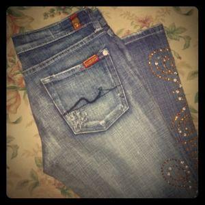 🎉SALE🎉7 For All Mankind jeans-custom rhinestones