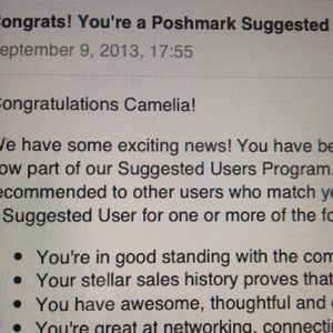 SUGGESTED SELLER on Posh: 100% authentic 2013-2017