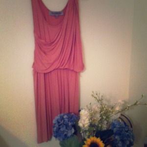 Grecian style rose color dress