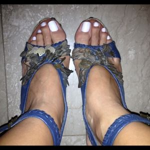 Blue Sam Edelman Platforms