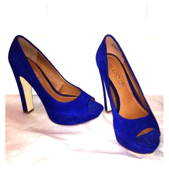 aldo shoes blue heels