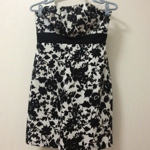 Black and white floral dress