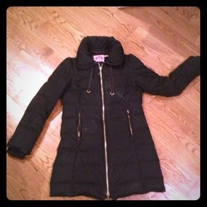 Juicy Couture long puffy quilted coat