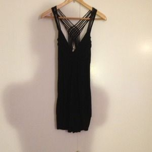 BUNDLEDBlack cross cross back dress