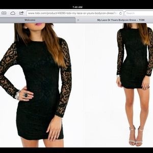 Dresses & Skirts - Gorgeous black lace bodycon backless dress
