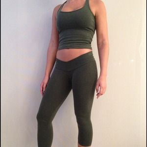 Rygy olive Green workout set from Brazil