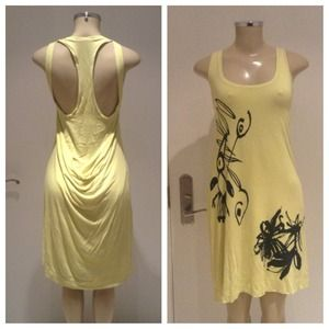 😲 Reduced! Cotton and stretch Yellow dress